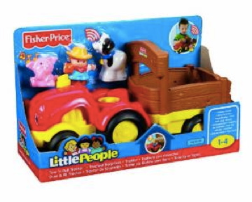 Tow N Go >> Little People Tow N Go Tractor At The Discount Toy Shop Ltd