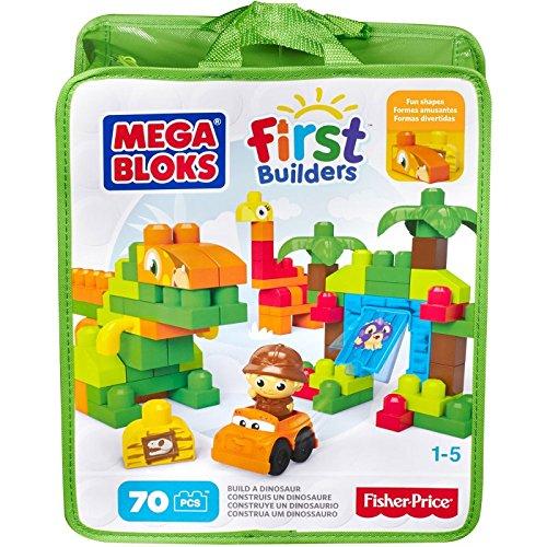 MEGA BLOKS BUILD A DINOSAUR FIRST BUILDERS SET | The Discount Toy Shop Ltd